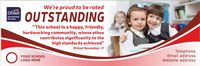 Ofsted Outstanding banner - Template 5